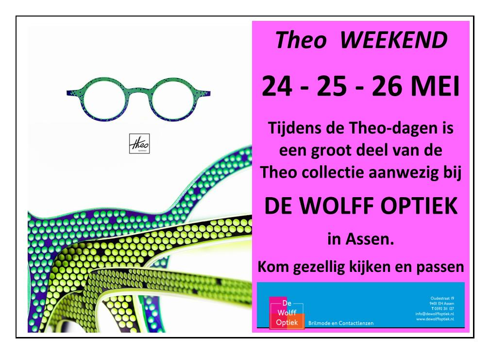 75cd14df599 De Wolff Optiek is exclusief dealer van Theo en Maui jim in Assen.